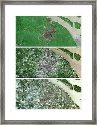 Shanghai Urban Spread Framed Print