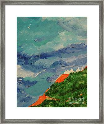 Framed Print featuring the painting Shangri-la by First Star Art