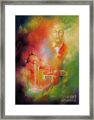 Framed Print featuring the painting Shangrila by Alexa Szlavics