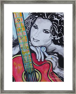 Shania Twain Framed Print by Chrisann Ellis