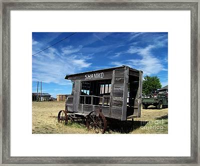 Shaniko Paddy Wagon Framed Print