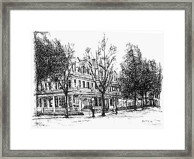 Shanley Hotel Framed Print by Monica Cohen