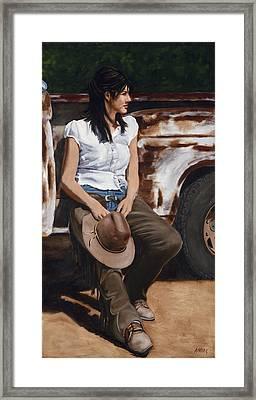 Shanti Waiting Framed Print by Jack Atkins