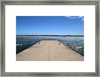 Shanty Bay Pier 2  Framed Print by Lyle Crump