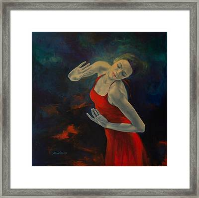 Shape Of My Heart... Framed Print by Dorina  Costras