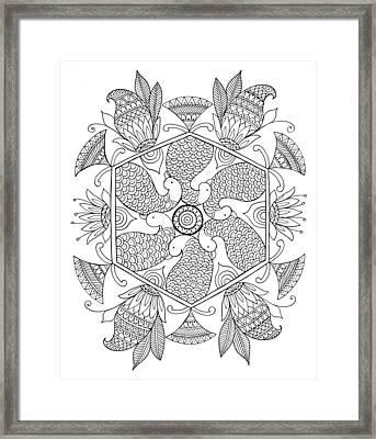 Shape Pattern 1 Framed Print by Neeti Goswami