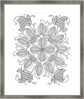 Shape Pattern 12 Framed Print by Neeti Goswami