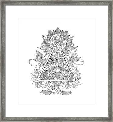 Shape Pattern 2 Framed Print by Neeti Goswami