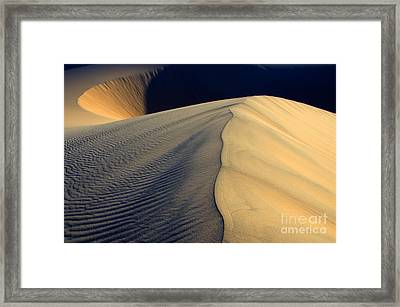 Shape Shifter Death Valley California Framed Print by Bob Christopher