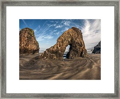 Shaped By Current Framed Print