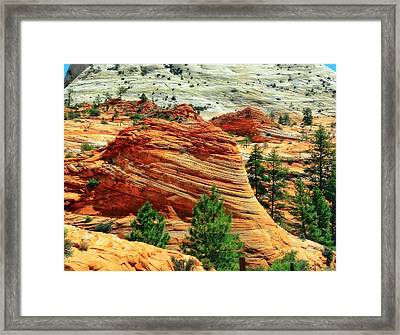 Shaped By The Hands Of Time In Zion Framed Print by Dan Sproul