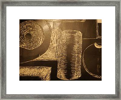 Shapes A-round Framed Print by Joshua Massenburg