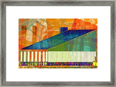 Shapes And Lines Framed Print by Marcia Lee Jones