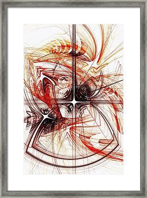 Shapes And Symbols Framed Print by Anastasiya Malakhova