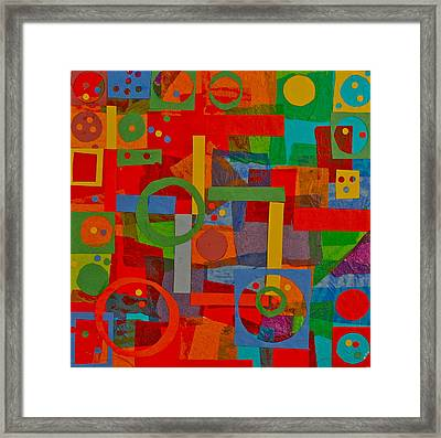 Shapes In Hues In Motion Framed Print by Patrick Beamish