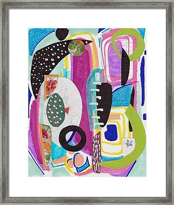 Shapes In Space Framed Print