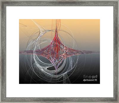 Shapes Infusing Framed Print by Leona Arsenault