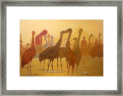 Framed Print featuring the painting Shapes Just Shapes Formas Nada Mas by Lazaro Hurtado