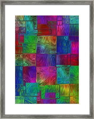 Shapes Of Color Framed Print by Jack Zulli