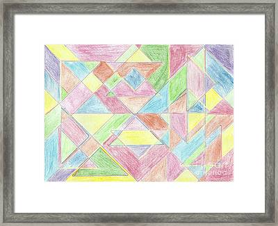 Shapes Of Colour Framed Print by Tracey Williams