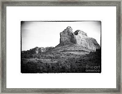 Shapes Of Oak Creek Canyon Framed Print by John Rizzuto