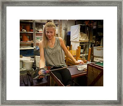 Framed Print featuring the photograph Shaping by Paul Indigo