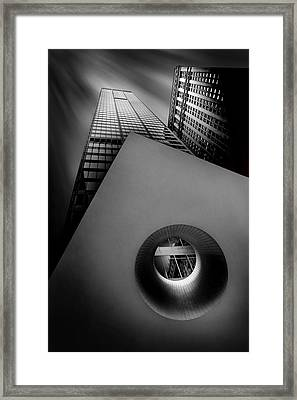 Shaping The Skyline Framed Print by Az Jackson