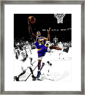 Shaquille O Neal Framed Print by Brian Reaves