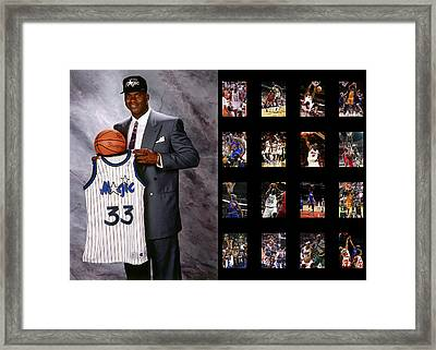 Shaquille O'neal Framed Print by Joe Hamilton
