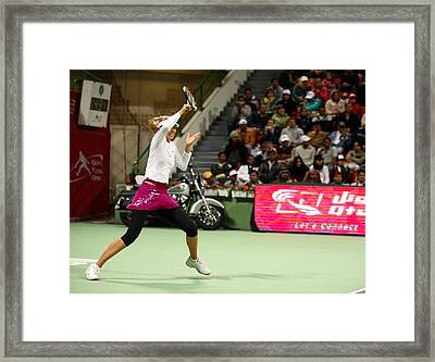 Sharapova At Qatar Open Framed Print