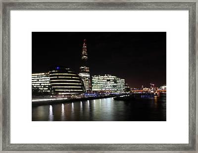 Shard At Night Framed Print by Dan Davidson