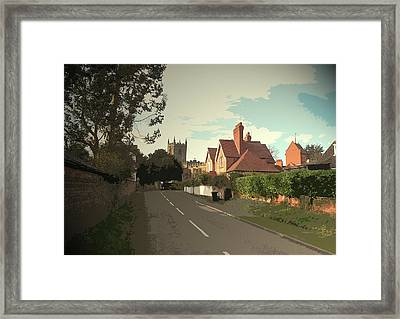 Shardlow Road In Aston-on-trent, All Saints Church Framed Print by Litz Collection