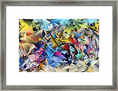 Shards 2 Framed Print by Ludwig Keck