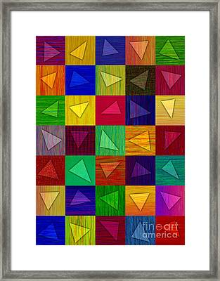 Shards Framed Print by David K Small