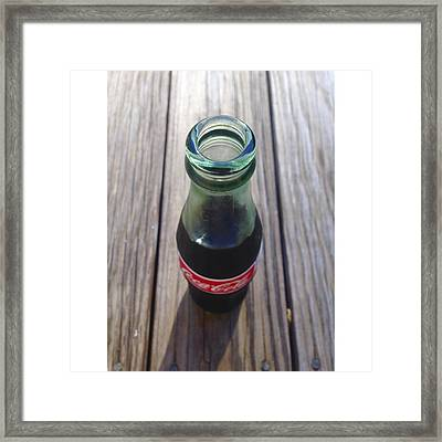 Share A Coke Framed Print by Emily Rowe