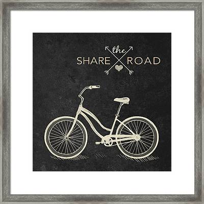 Share The Road Framed Print by South Social Studio