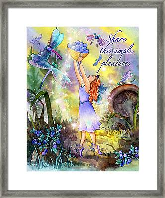 Share The Simple Pleasures Framed Print by Teresa Ascone