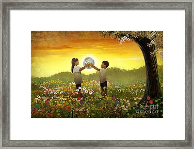 Share The World Framed Print by Bedros Awak