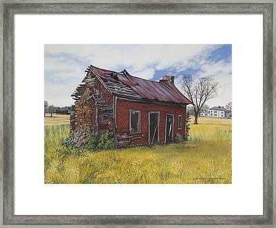 Sharecroppers Shack Framed Print by Peter Muzyka