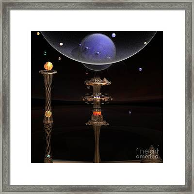 Shared Visions With Max Planck Framed Print by Peter R Nicholls