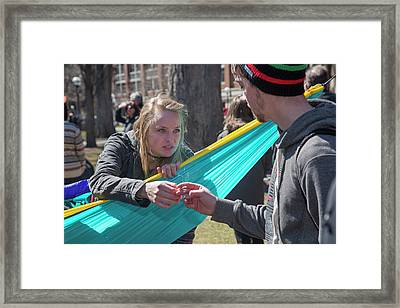 Sharing A Joint Framed Print by Jim West