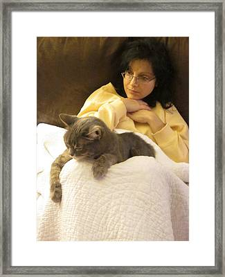 Sharing A Moment Framed Print by Guy Ricketts