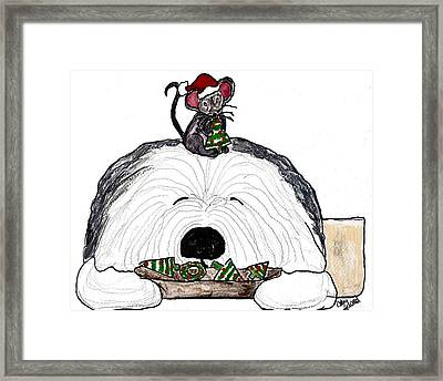 Sharing Christmas Cookies Framed Print