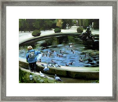 Sharing Lunch At Schoenbrunn Framed Print