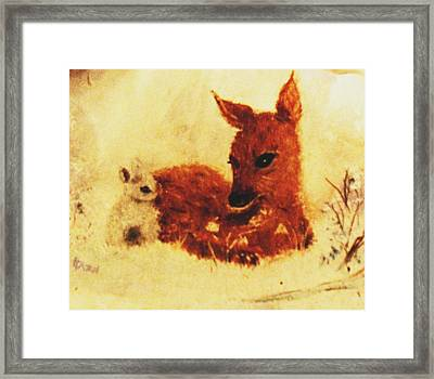 Framed Print featuring the painting Sharing Secrets by Hazel Holland
