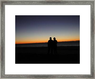 Sharing The Moment Framed Print by Cindy Croal