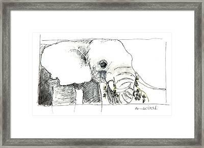 Sharing The Serengeti Framed Print