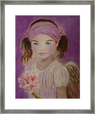 Sharissa Little Angel Of New Beginnings Framed Print by The Art With A Heart By Charlotte Phillips