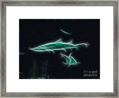 Shark-09433-fractal Framed Print by Gary Gingrich Galleries