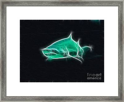 Shark-09441-fractal Framed Print by Gary Gingrich Galleries